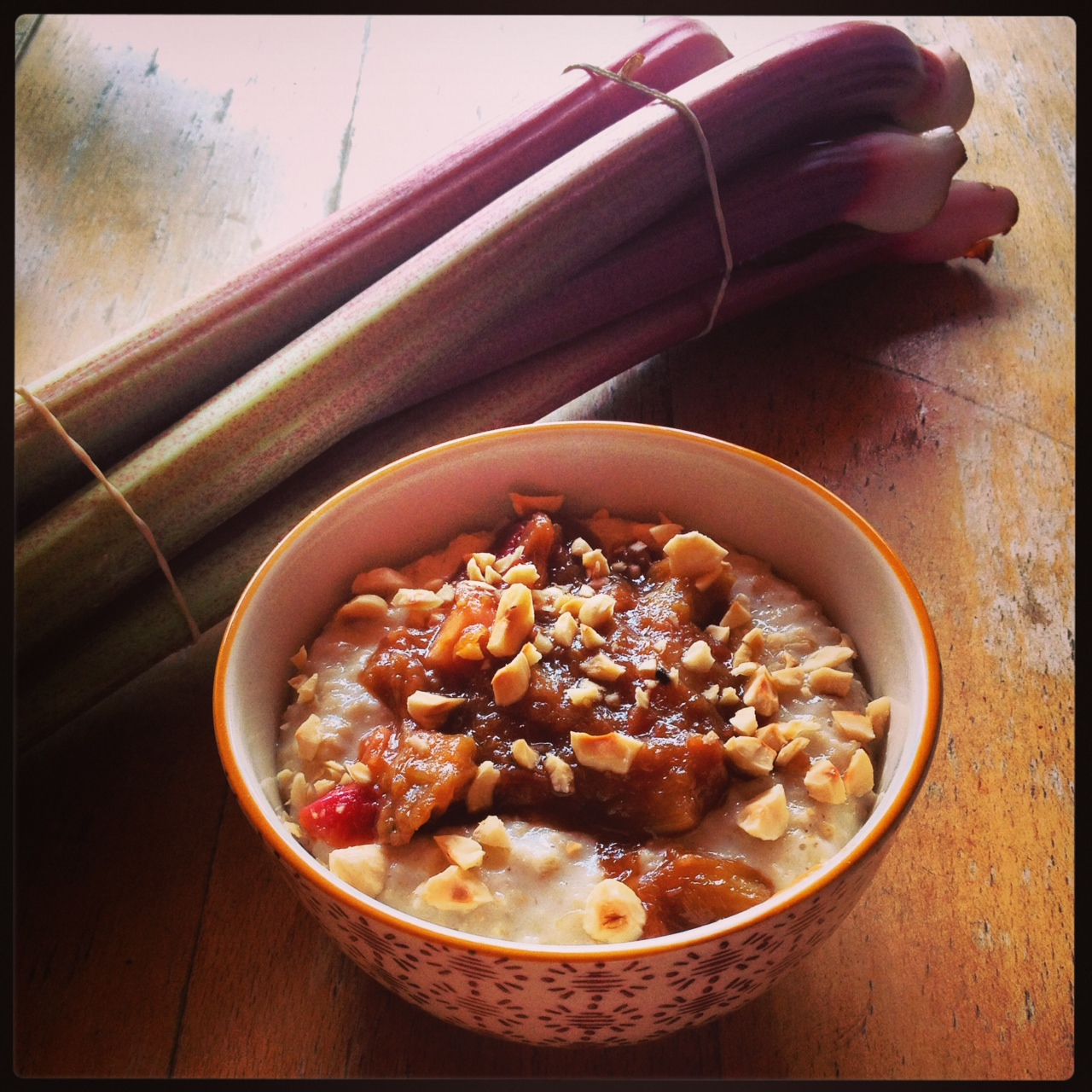 Rhubarb compote, and a new Wild Oats market venue!